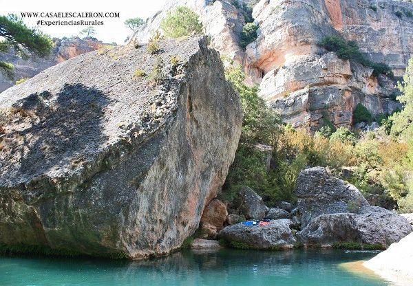 Pozas del cañón del río júcar, en los llamados cortados de villalba de la sierra