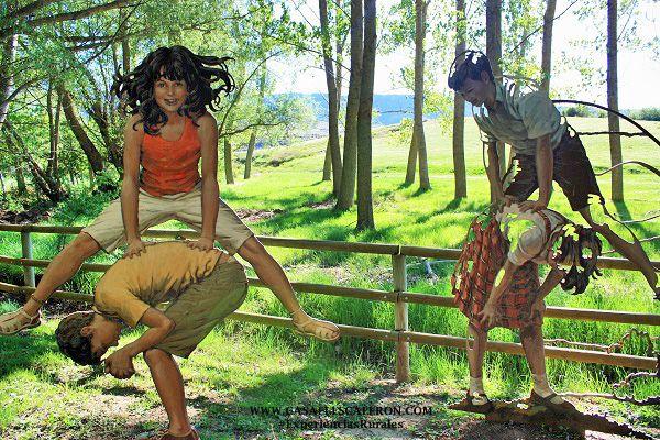 el paisaje ilustrado en el pueblo de valdemeca