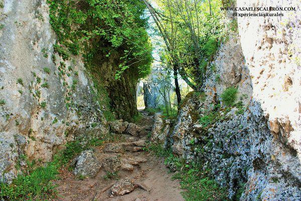 los callejones de las majadas, en la localidad de las majadas (Serranía de Cuenca)