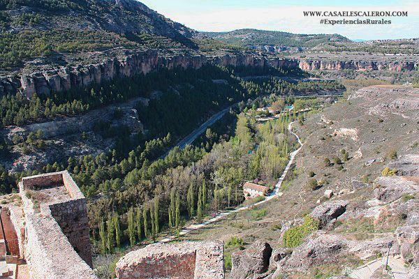Vistas de la hoz del jucar desde el castillo de cuenca
