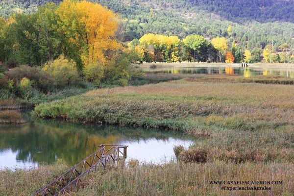 La laguna de Uña en la localidad de Uña (Serranía de Cuenca)