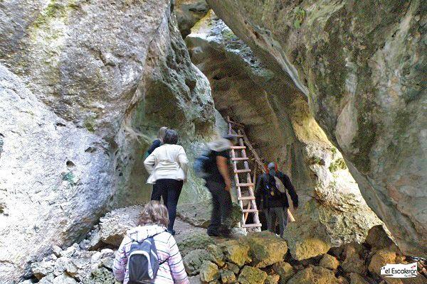 Escalera rudimentaria de la ruta de las catedrales