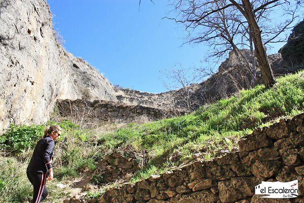 subida por el antiguo acueducto de cuenca