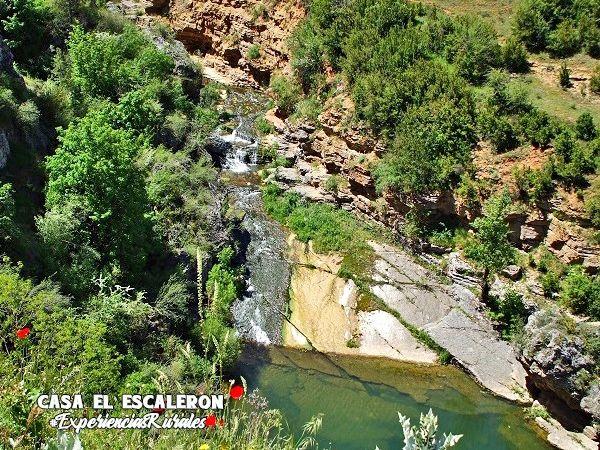 Barranco del Río Júcar a su paso por el pueblo de uña