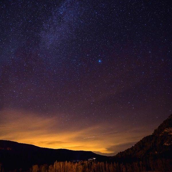 la serranía de cuenca es destino starlight por tener sus cielos limpios y estrellados