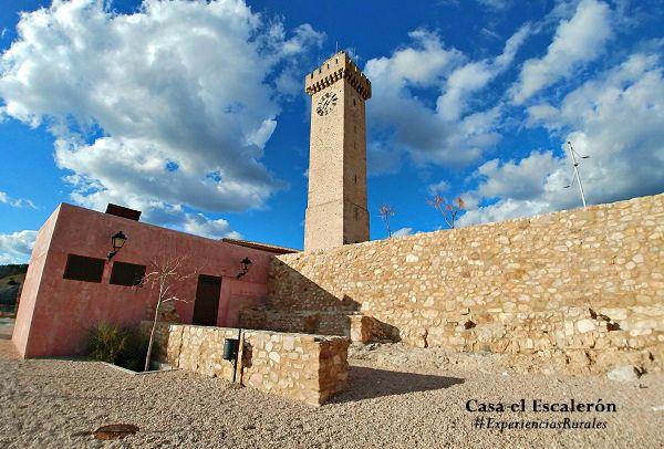 muro que rodea la torre de mangana